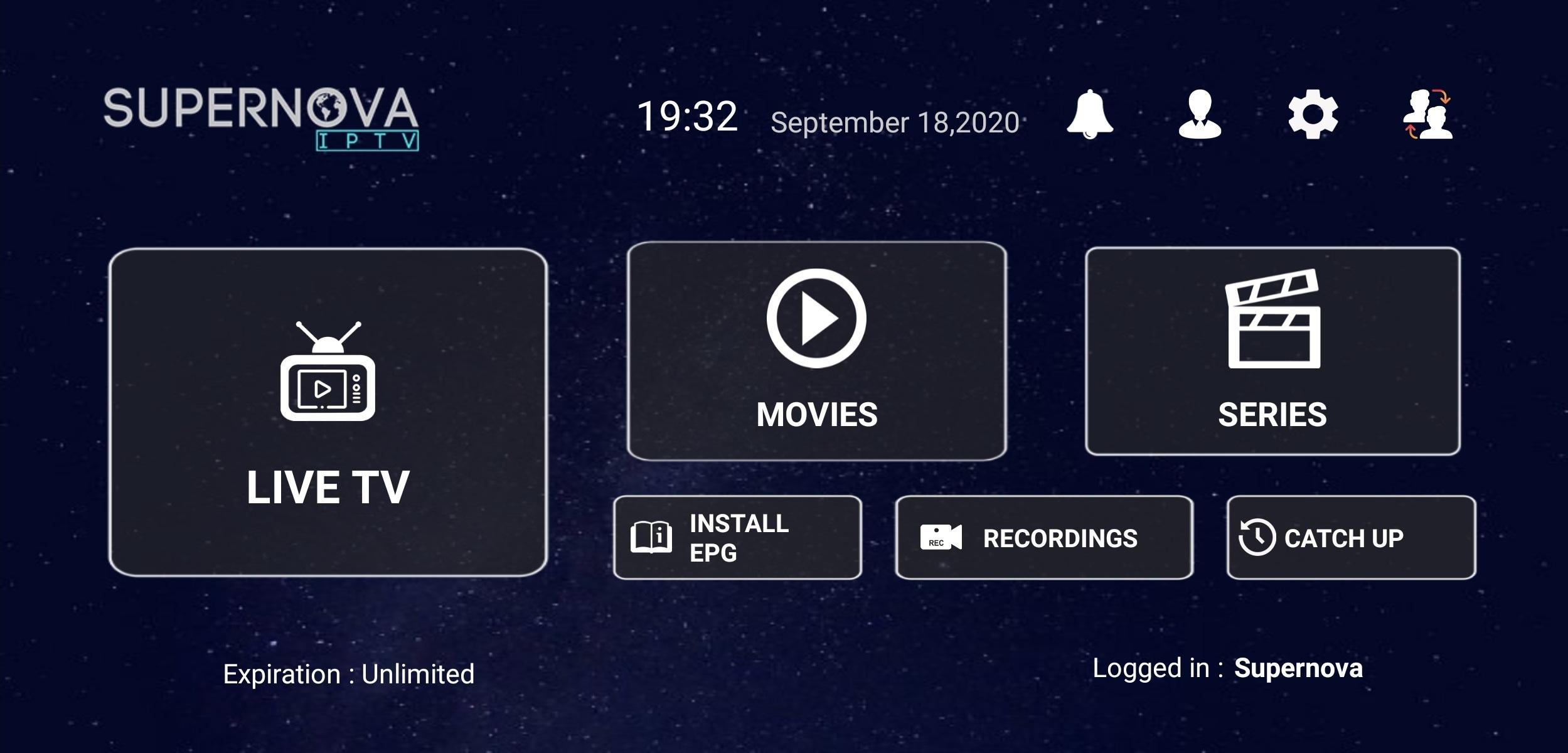 supernova iptv android aplikacija